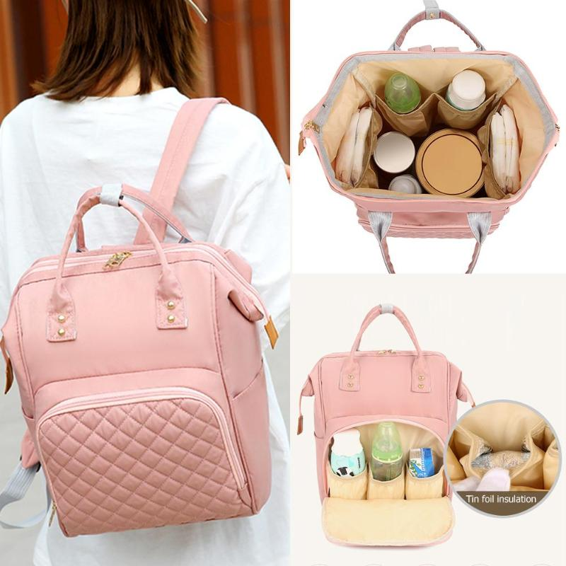 NEW Fashion Diaper Bag Mommy Backpack Pure Color Mommy Travel Backpacks Large Nylon Maternity Baby Care