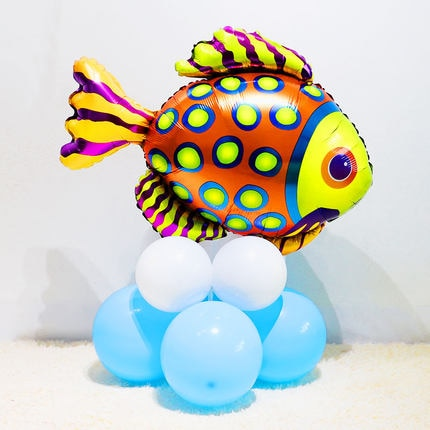 1pc Large sea animals Foil Balloons shark fish Helium Globos Baby Shower Birthday Party Wedding Decorations Ocean Theme Ballons