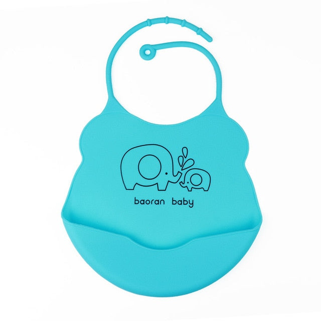 Baby Bib for Newborn Cute Cartoon Print Kid Feeding Arpon Waterproof Baby Bibs Silicone Adjustable