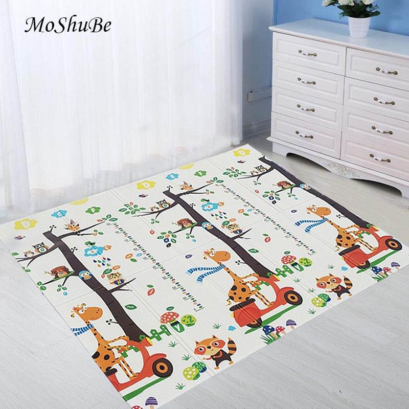Baby Play Mat Waterproof XPE Soft Floor Playmat Foldable Crawling Carpet Kid Game Activity Rug Folding Blanket