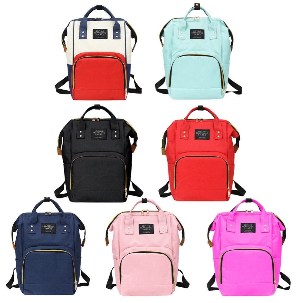 Mummy Diaper Bags Zipper Mother Travel Backpacks Maternity Handbags Pregnant Women Baby Nappy Nursing Diaper Bags