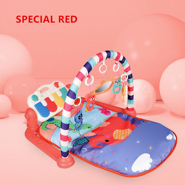 Toddler Soft Crawling Activity Gym Rack Blanket Juguetes Electronic Musical Play Mats Baby Toys for Newborn Baby Boys Girl Piano