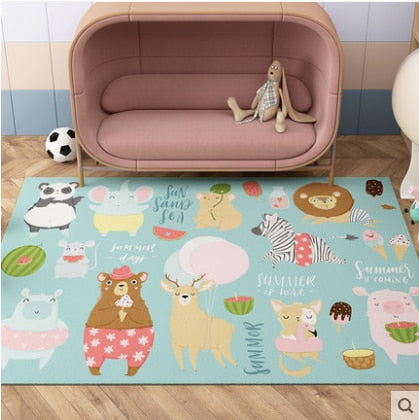 Baby Play Mats Kids Crawling Carpet Floor Rug Baby Bedding Rabbit Blanket Cotton Game Pad Children Room Decoration