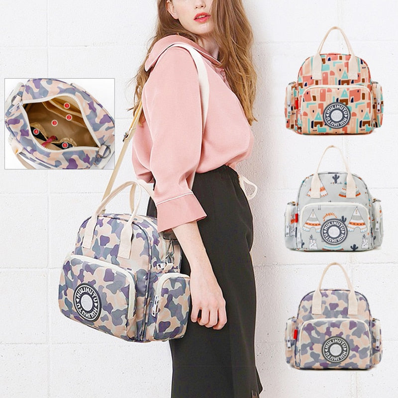 Bag Large Capital Baby Bags for Mom Shoulder Bag Adjustable Strap Backpack