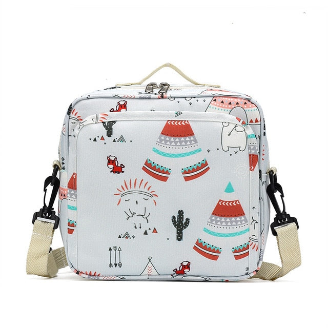 Baby Diaper Bags Maternity Bag for Disposable Reusable Fashion Prints Wet Dry Diaper Bag