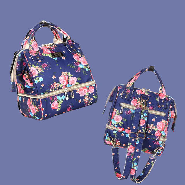 Bag Backpack For Moms Small Fashion Baby Nursing Nappy Changing Lunch Bag Stroller Organizer
