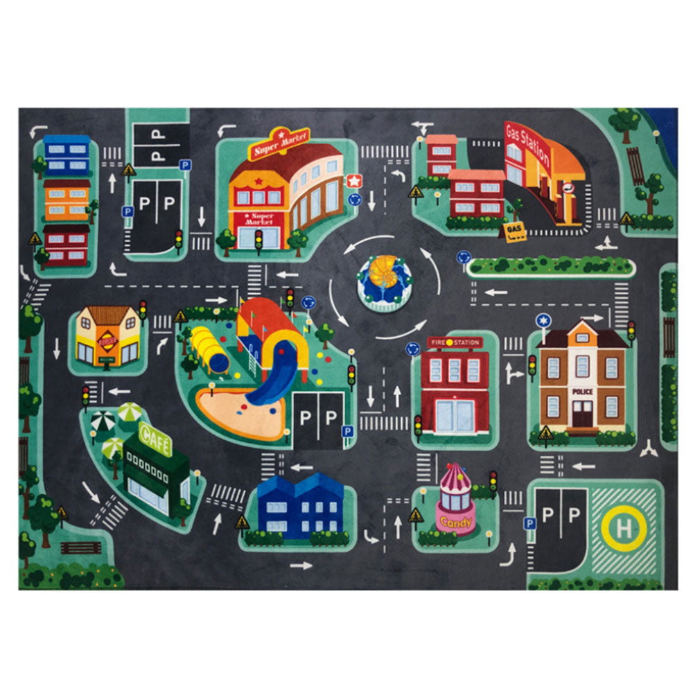 Baby LED Play Mat Crawling Pad Children's Educational Carpet Traffic Urban Mat