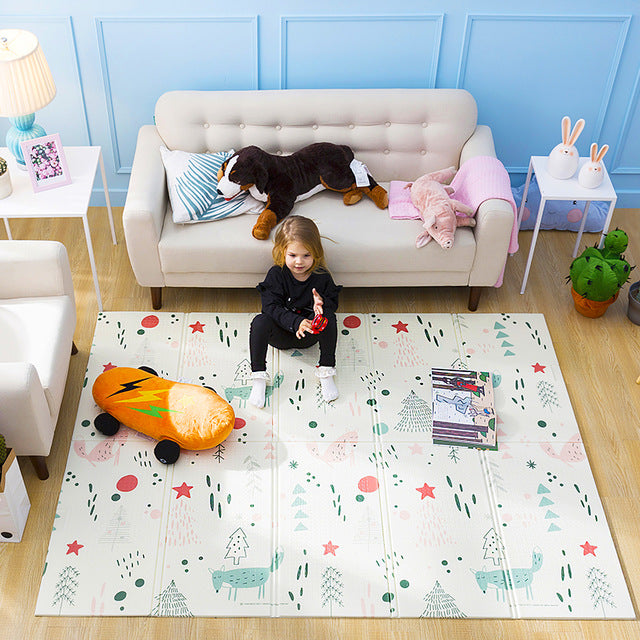 Infant Shining Baby Play Mat Puzzle Children's Mat Thickened Tapete Infantil Baby Room Crawling