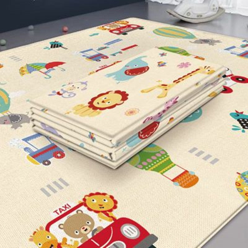 180*100cm Baby Play Cartoon Mat Crawling Pad Folding Thickening Environmental Household