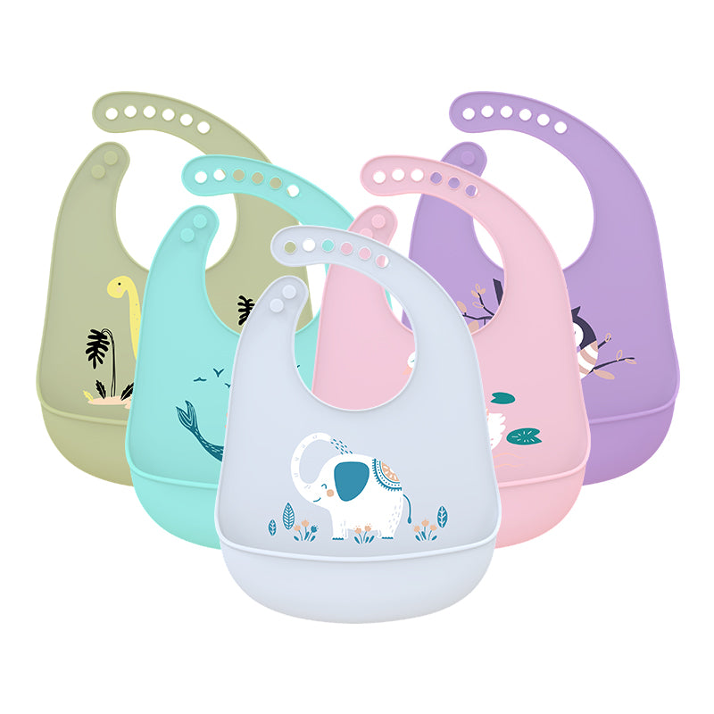 Silicone Baby Bibs Easily Wipe Clean Comfortable Soft Waterproof Bib Keeps Stains Off