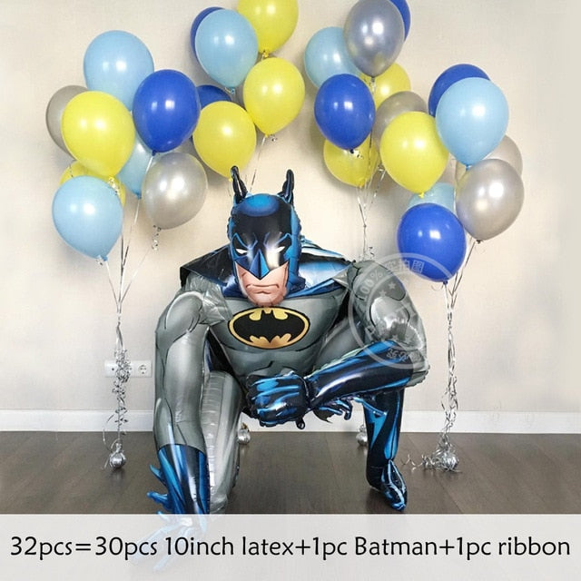 Batman spiderman foil balloons inflatable air kids toy balloon patients birthday party decoration supplies