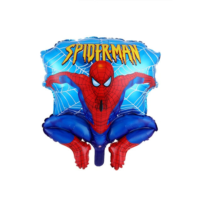 1set 3D Large Spiderman iron Man Batman Foil Balloons Super Hero Birthday Party Decoration Supplies Children's Gifts Air Toys