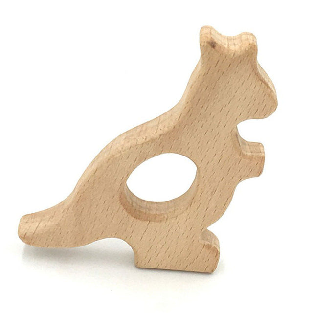 Cute DIY Baby Gym Toys Wood Necklace Pendant Food Grade Wooden Teether Toys Tortoise Koala Whale Turtle Wooden Teething Toys