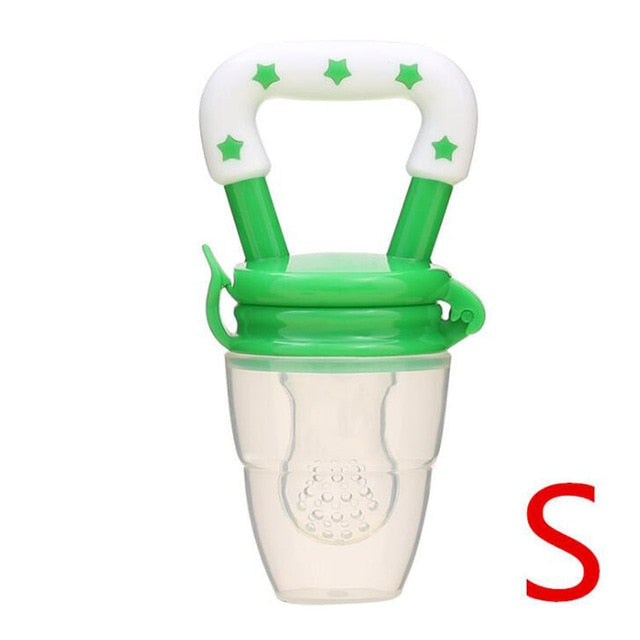 Baby Toys Portable Infant Fruit Nipple Bite Silicone Safety Feeder Pacifier Toys Teethers