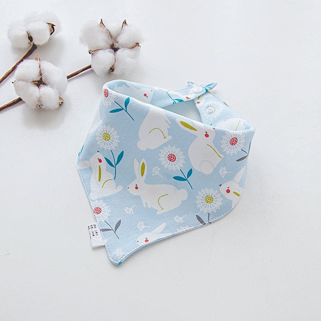 Cotton Bandana Bibs Baby Babador Feeding Smock Infant Burp Cloths