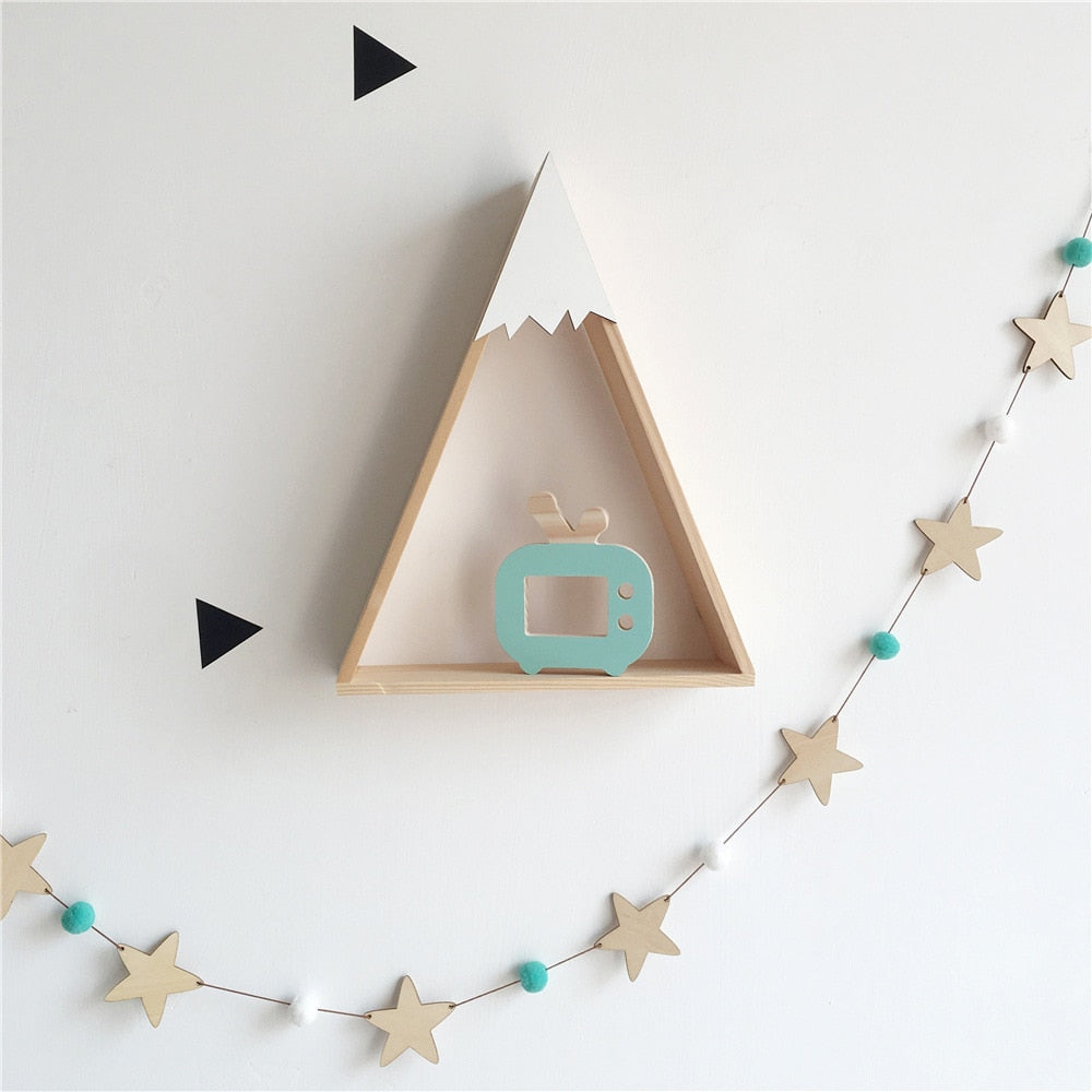 Baby Room Decor Wooden Star Bed Bumper For Newborn Baby Cot Bedding Tent Wall Hanging Children Room Decoration