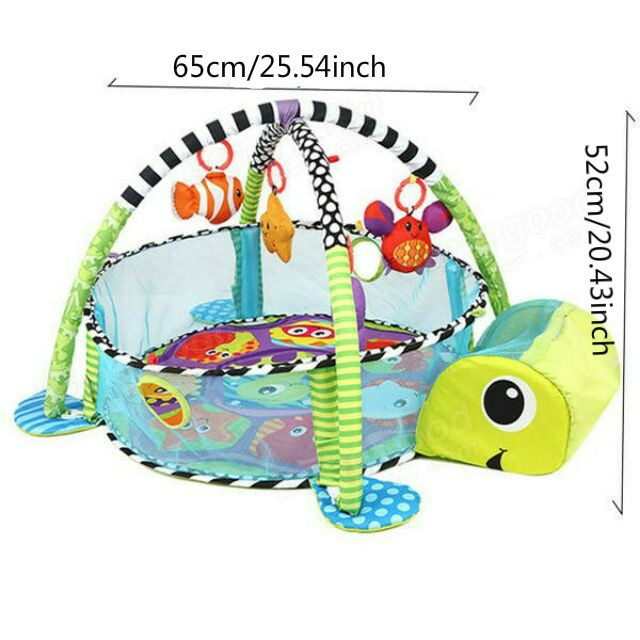 Baby Play Mat Round Lion Turtle Crawling Blanket Infant Game Pad Play Rug Kids Activity Mat Gym