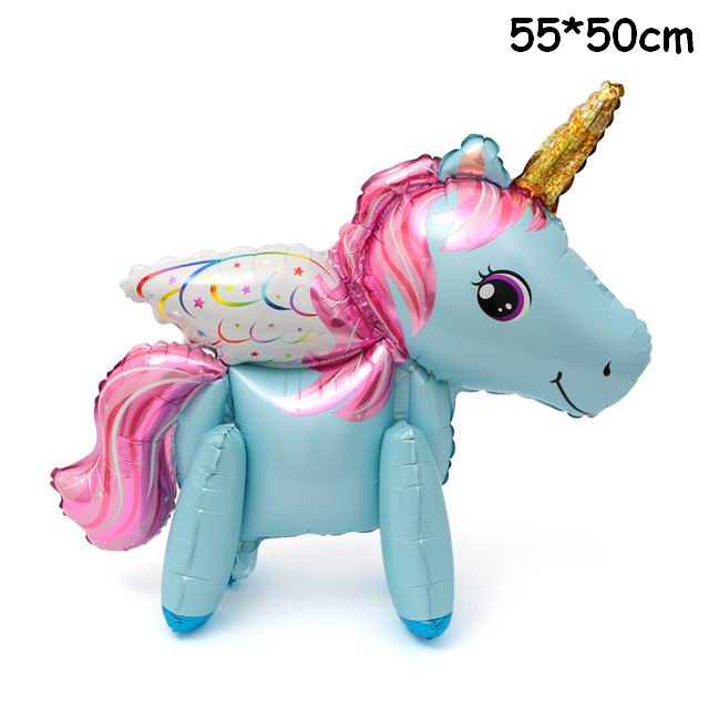 Pink Horse Little Pony Unicorn Foil Balloons Helium Balloon Kids Toys Wedding Birthday Animal Party Decor Supplies