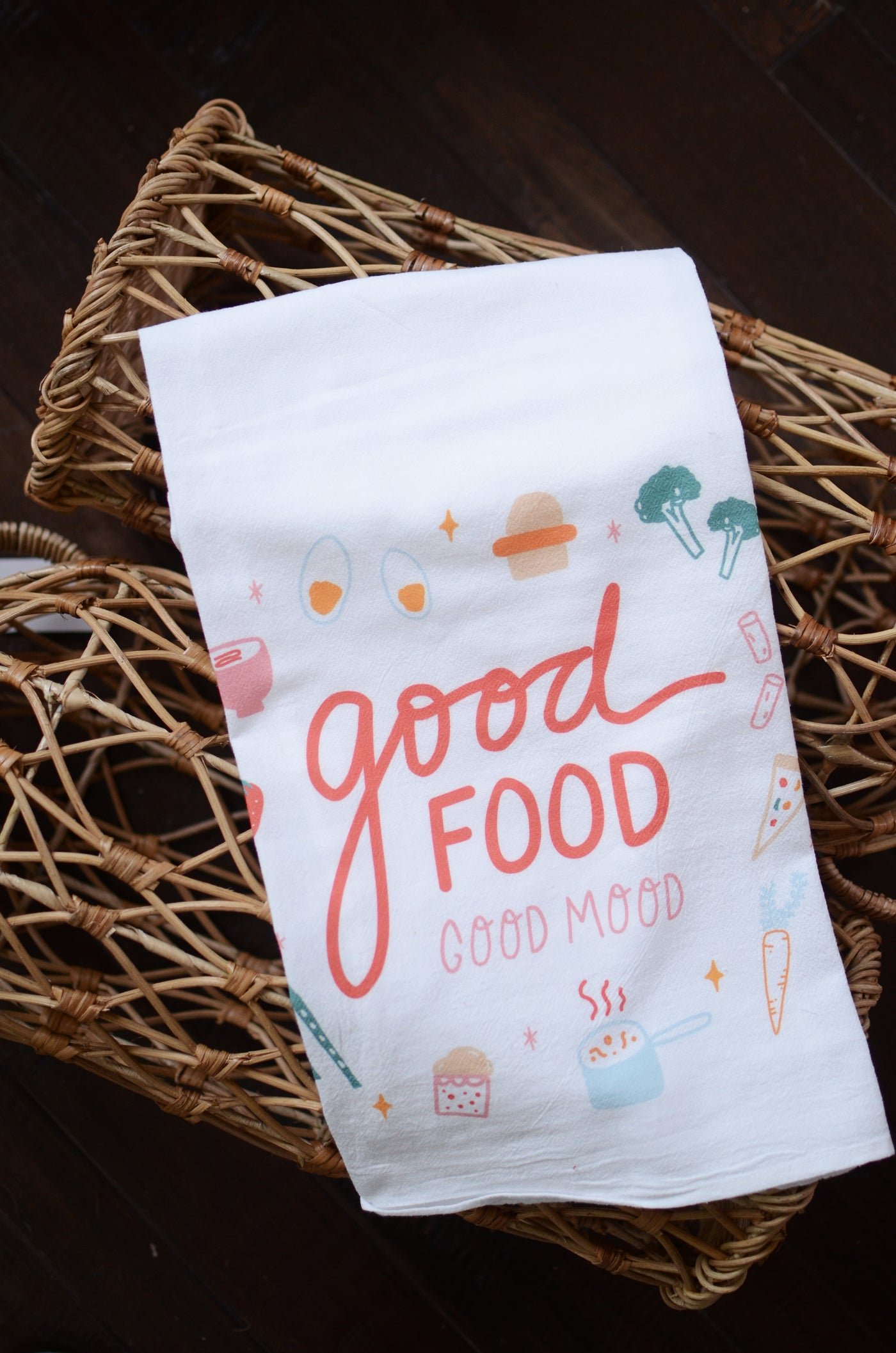 Doe A Deer Good Food Flour Sack Towel
