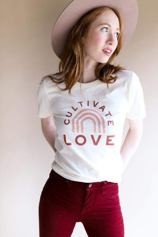 Polished Prints Cultivate LOVE Tee