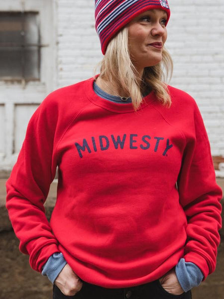 The Midwest Girl Midwesty Crewneck Red