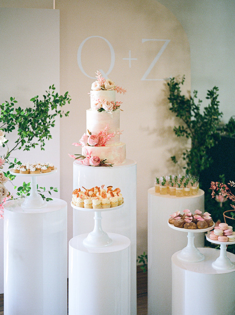 Large wall decal for wedding cake display