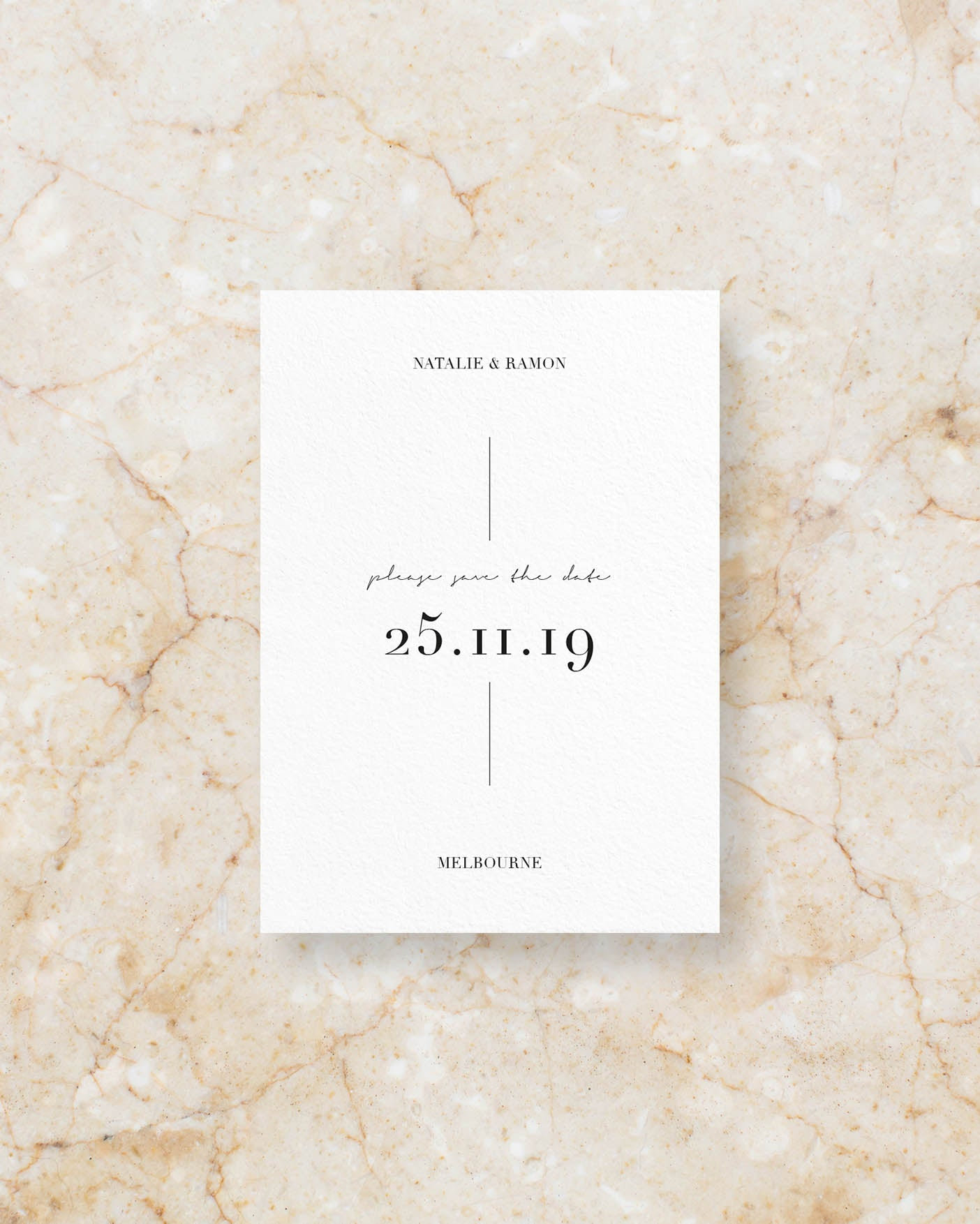 Bodoni save the date