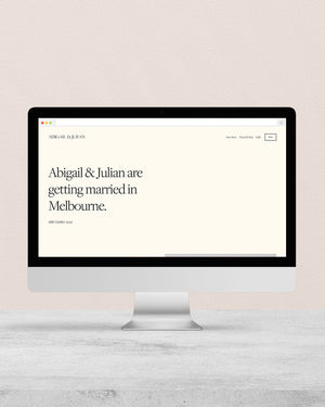 Conscious Wedding Website - Multi Page
