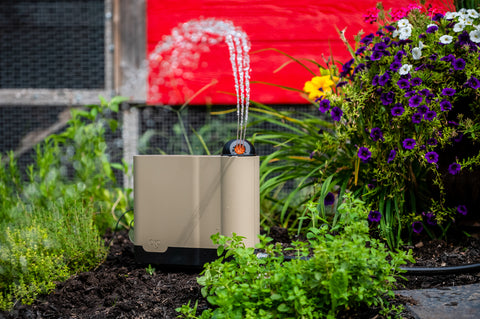 OtO Lawn smart device waters your lawn automatically making lawn care easy and efficient