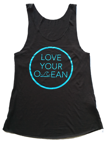 Women's Love Your Ocean Tank - Black