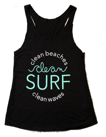 Women's Clean Surf Tank - Black