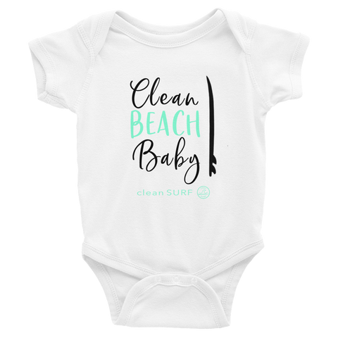 Clean Beach Baby Onesie