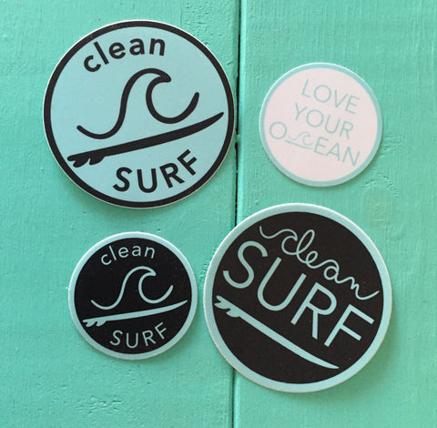 Clean Surf Sticker Pack
