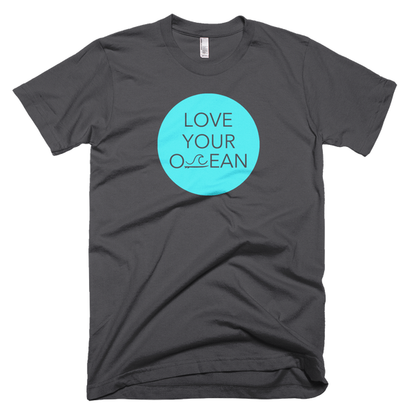 Short Sleeve - Love Your Ocean Tee - Dark Grey