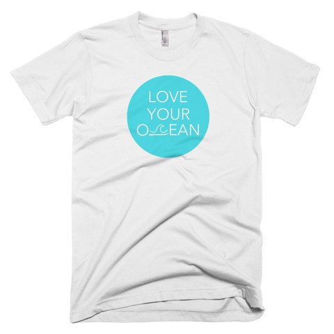 Short Sleeve - Love Your Ocean Tee - White