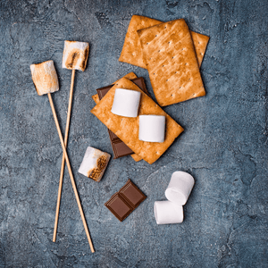 S'mores kit: 2 sterno, bamboo skewers, Hershey chocolate bars, graham crackers, and Marshmallows - The Chef's Garden