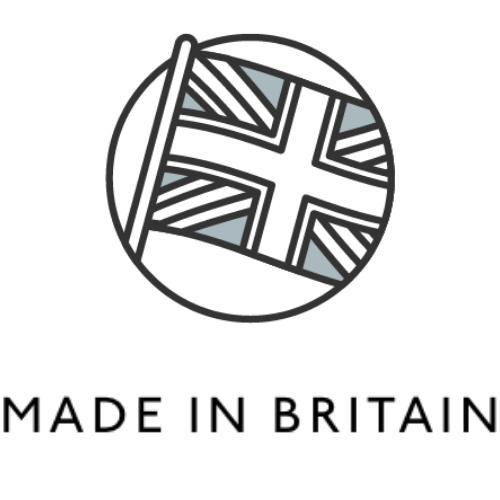 Spruce refillable cleaning with plastic free cleaning refills are made in the UK. Made in Britain logo for locally made and ethical products