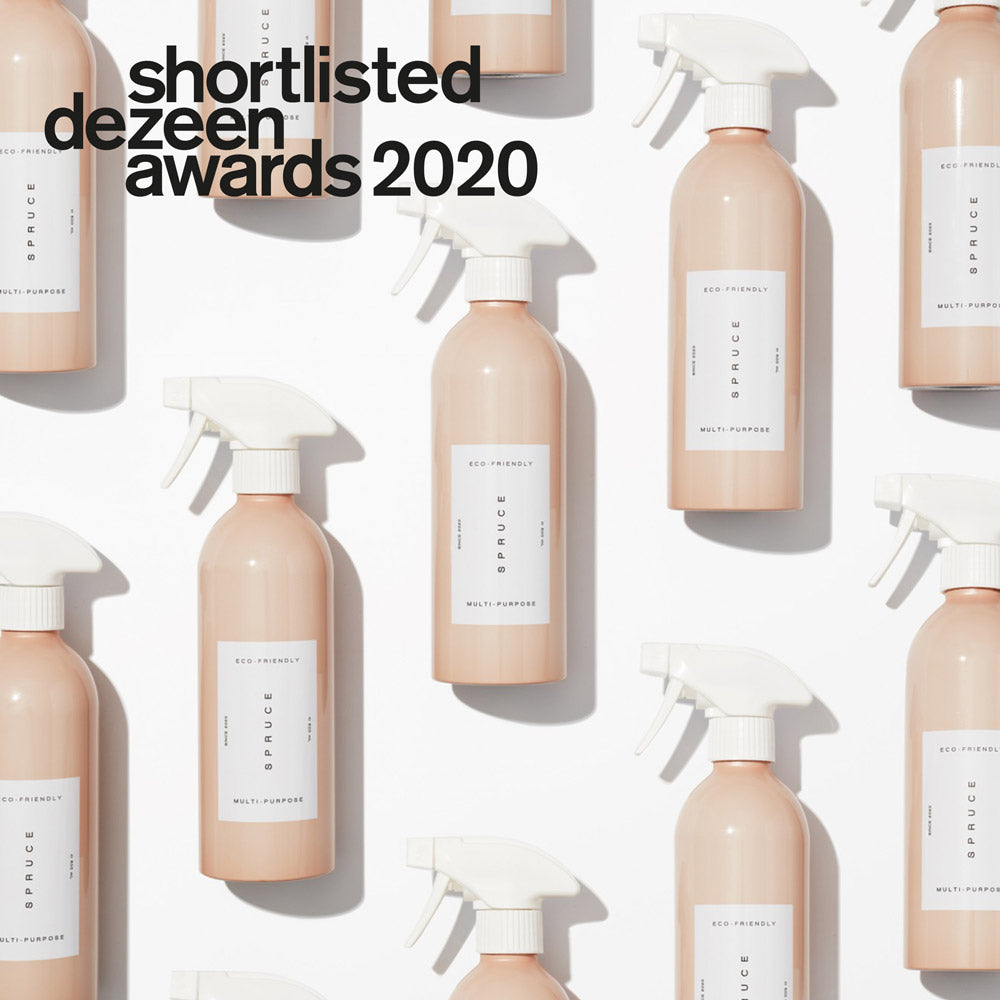 Spruce refillable cleaning plastic free cleaning products dezeen design awards in sustainable product design category