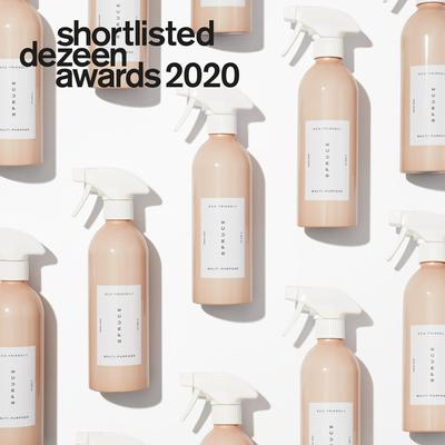 Spruce refillable household cleaning products for zero-waste and plastic free cleaning products dezeen design awards in sustainable product design category.