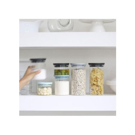 Brabantia Stackable Glass Canisters 3 Set Hello Green