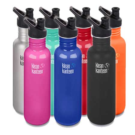 b8360cefc4 Klean Kanteen Classic Stainless Steel Bottle with Sports Cap 27oz (800ml)