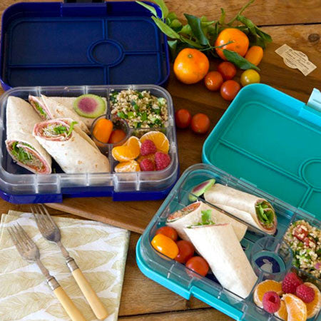 Yumbox tapas bento lunch box hello green for Bento lunch box isotherme