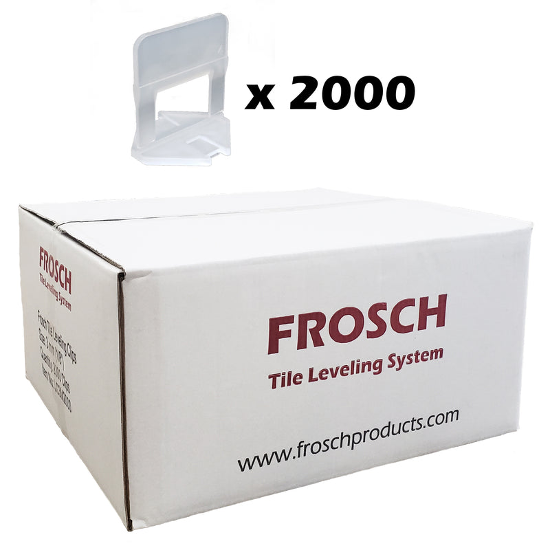 "FROSCH Tile Leveling System - 1/16"" (1.5mm) Clips [2000 clips]"