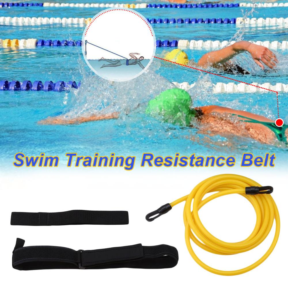 2M/4M Reinforcement Adjustable Swim Training Resistance Belt Band