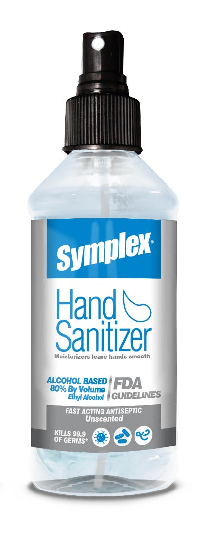 Symplex® Sprayable Hand Sanitizer - Alcohol-Based 80% v/v