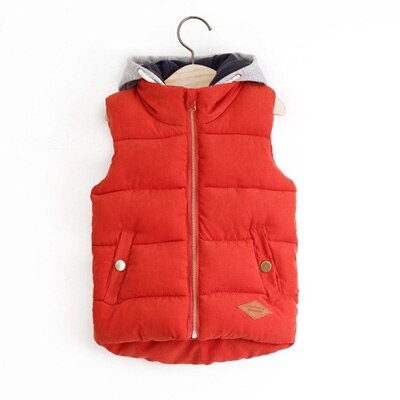 Preppy Hooded Boys Vest Jacket