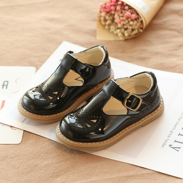 Leather T-Strap Schoolgirl Dress Shoes