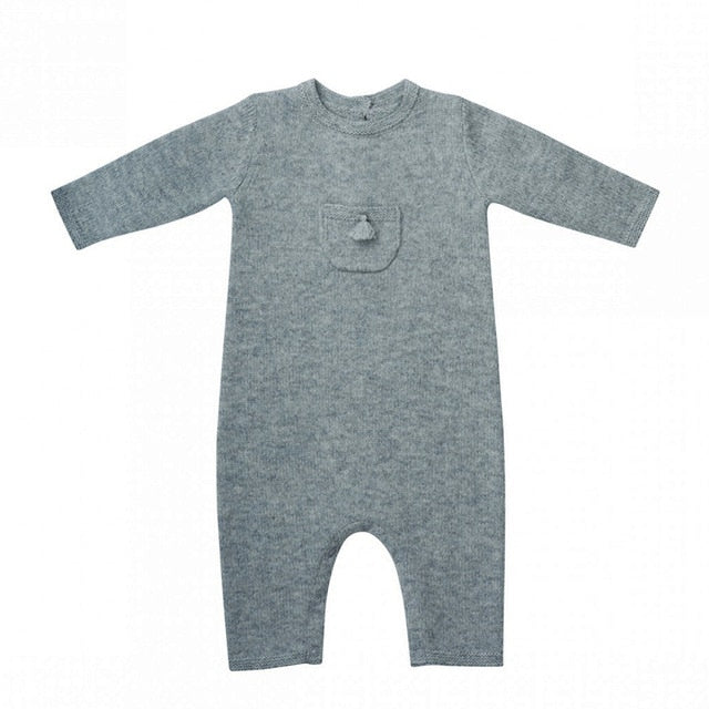 Modern Knit Winter Baby Romper
