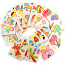 Cartoon Shape Learning Wooden 3D Jigsaw Puzzle