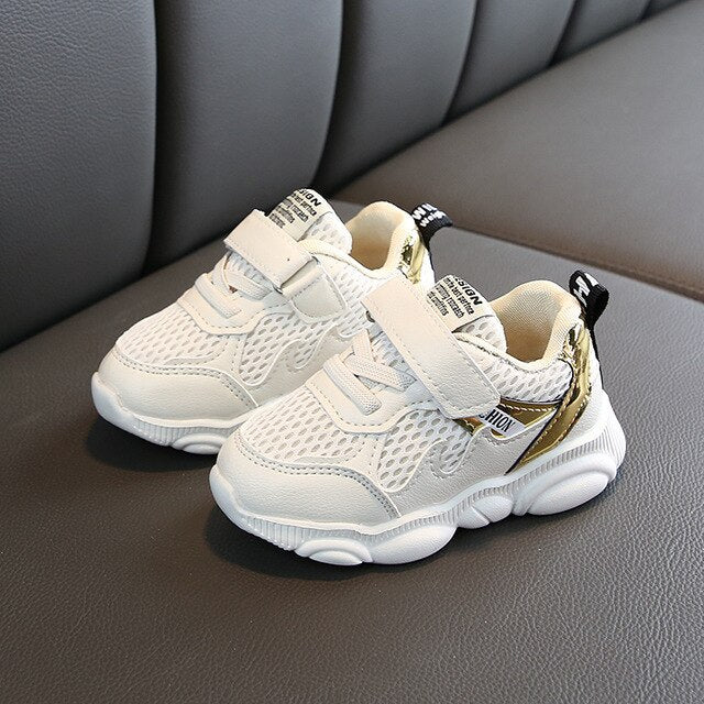 Metallic Lit Baby Sneakers